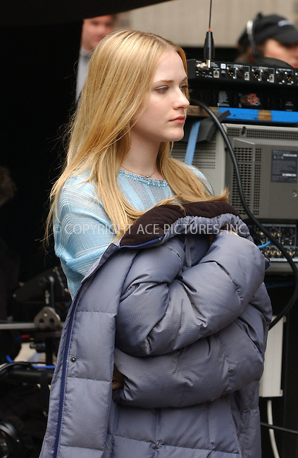 "WWW.ACEPIXS.COM . . . . .  ....November 28 2005, New York City....Actress Evan Rachel Wood on the set of ""Across The Universe"" which is shooting on location in New york.....Please byline: AJ Sokalner - ACEPIXS.COM..... *** ***..Ace Pictures, Inc:  ..Philip Vaughan (212) 243-8787 or (646) 769 0430..e-mail: info@acepixs.com..web: http://www.acepixs.com"
