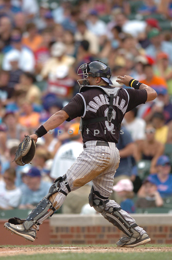 YORVIT TORREALBA, of the Colorado Rockies , in action during the  Rockies  game against the Chicago Cubs in Chicago, IL  on June 27,  2007...Cubs  win 6-4...CHRIS BERNACCHI/ SPORTPICS..