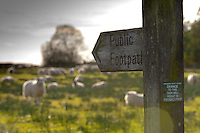 Public footpath sign, Whitewell,Lancashire.