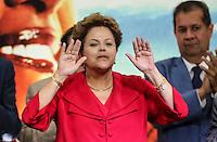 SAO PAULO, SP, 20 FEVEREIRO 2013 - 10 ANOS DO PT NO GOVERNO DEMOCRATICO E POLULAR - Presidente Dilma Rousseff durante evento de 10 anos do PT (Partido dos Trabalhadores) no Governo Democrático e Popular na regiao norte da cidade de Sao Paulo. O evento do PT é o lançamento de uma série de seminários temáticos organizados pelo partidoem parceria com o Instituto Lula ea Fundação Perseu Abramo, para comemorar eavaliar os 10 anos de governo desde a posse de Lula, em 2003. FOTO: WILLIAM VOLCOV - BRAZIL PHOTO PRESS