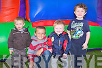 BOYS WILL BE BOYS: Enjoying the Family Fun Day in aid St Bridget's Community Centre at Marian Park, Tralee on Thursday l-r: Andrew O'Connor, Josh Quirke, Calvin O'Sullivan and Cody O'Sullivan.