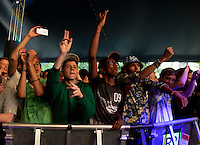 The Crowd enjoy Grandmaster Flash performance during The New Look Wireless Music Festival at Finsbury Park, London, England on Sunday 05 July 2015. Photo by Andy Rowland.
