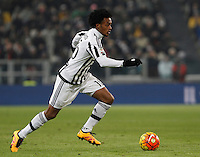 Juventus' Juan Cuadrado in action during the Italian Serie A football match between Juventus and Roma at Juventus Stadium.