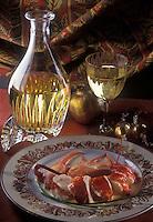 Gastronomie générale/Repas de Réveillon: Homard rôti minute servi avec un Puligny-Montrachet