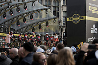 Team Trek Segafredo pre race team presentation<br /> <br /> 103rd Ronde van Vlaanderen 2019<br /> One day race from Antwerp to Oudenaarde (BEL/270km)<br /> <br /> ©kramon