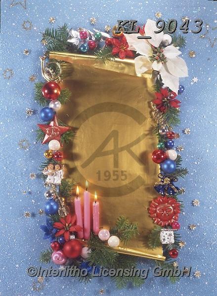 Interlitho-Helga, CHRISTMAS SYMBOLS, WEIHNACHTEN SYMBOLE, NAVIDAD SÍMBOLOS, photos+++++,candles, green,KL9043,#xx#