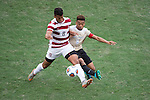 HOUSTON, TX - DECEMBER 11:  Brian Nana-Sinkam (8) of Stanford University and Jacori Hayes (8) of Wake Forest University compete for the ball during the Division I Men's Soccer Championship held at the BBVA Compass Stadium on December 11, 2016 in Houston, Texas.  Stanford defeated Wake Forest 1-0 in a penalty shootout for the national title. (Photo by Justin Tafoya/NCAA Photos via Getty Images)