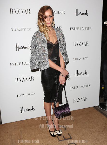 Alice Dellal arriving for the Harper's Bazaar Women of the Year Awards 2012 at Claridge's Hotel, London. 31/10/2012 Picture by: Henry Harris / Featureflash