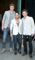 June 20, 2012 Derek Theier, Tahj Mowry and Jean-Luc Bilodeau at Good Morning America in New York City to talk about the new ABC Family TV series Baby Daddy. © RW/MediaPunch Inc. NORTEPHOTO<br />
