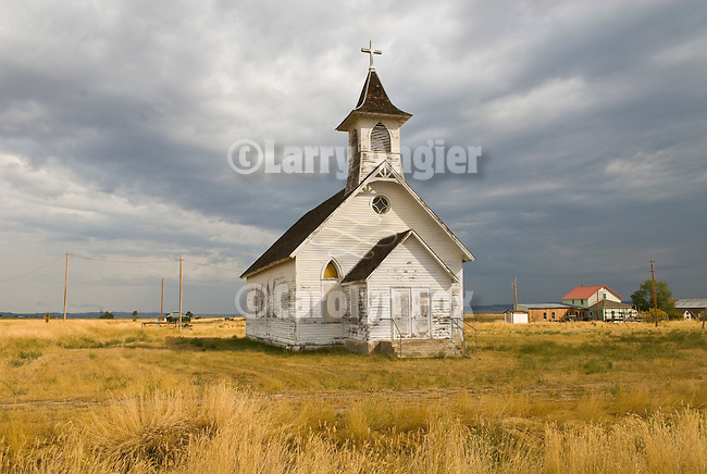 St. Wenceslaus Catholic Church in the old Montana town f Danvers