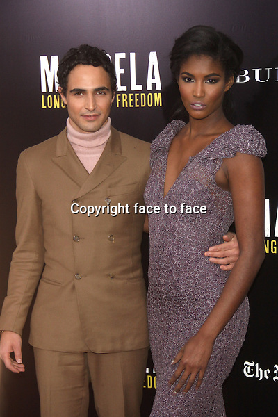 NEW YORK, NY - NOVEMBER 25: Zac Posen and Sessilee Lopez at 'Mandela: Long Walk To Freedom' screening hosted by U2, Anna Wintour, Bob and Harvey Weinstein with Burberry at Ziegfeld Theater on November 25, 2013 in New York City. Credit: RW/MediaPunch Inc.<br />