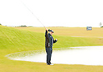 It always plays to warm up and a few casts of the fly rod on the range at Castle Stuart was one of the options at Castle Stuart, Inverness, Scotland from 7th to 10th July 2011:  Picture Stuart Adams /www.golffile.ie 9th July 2011