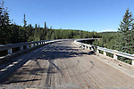 KASKATINAW CURVED WOODEN BRIDGE, MILE 21, OLD ALASKA HIGHWAY, BRITISH COLUMBIA, CANADA