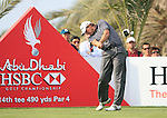 Retief Goosen tees off on the 14th tee during Thusday Day 1 of the Abu Dhabi HSBC Golf Championship, 20th January 2011..(Picture Eoin Clarke/www.golffile.ie)