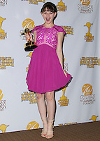 BURBANK, CA, USA - JUNE 26: Actress Joey King poses in the press room at the 40th Annual Saturn Awards held at The Castaway on June 26, 2014 in Burbank, California, United States. (Photo by Xavier Collin/Celebrity Monitor)