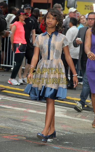 NEW YORK, NY - MAY 29: Quvenzhane Wallis at ABC's Good Morning America in New York City on May 29, 2014.  <br /> CAP/MPI/RW<br /> &copy;RW/ MediaPunch/Capital Pictures