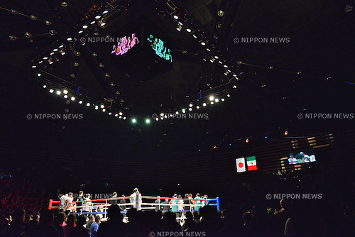 Ota-City General Gymnasium,<br /> DECEMBER 31, 2013 - Boxing :<br /> A general view of the ring before the WBC super featherweight title bout at Ota-City General Gymnasium in Tokyo, Japan. (Photo by Hiroaki Yamaguchi/AFLO)