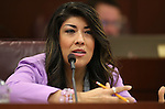 Nevada Assemblywoman Lucy Flores, D-Las Vegas, works in committee at the Legislative Building in Carson City, Nev. on Tuesday, Feb. 5, 2013. .Photo by Cathleen Allison