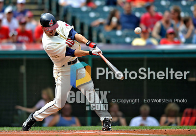 14 September 2008: Cleveland Indians' infielder Jamey Carroll in action against the Kansas City Royals at Progressive Field in Cleveland, Ohio. The Royal defeated the Indians 13-3 to take the 4-game series three games to one...Mandatory Photo Credit: Ed Wolfstein Photo