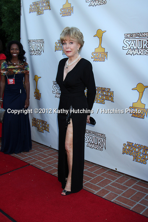 LOS ANGELES - JUL 26:  Barbara Eden arrives at the 2012 Saturn Awards at Castaways on July 26, 2012 in Burbank, CA
