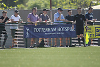 Tottenham Hotspurs banner is seen at the only club that plays on White Hart Lane Haringey borough FC during Haringey Borough vs Canvey Island, Bostik League Division 1 North Play-Off Final Football at Coles Park Stadium on 6th May 2018