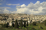 "Israel, Lower Galilee, a view of Nazareth from ""Fear Mountain"""