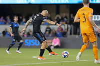 SAN JOSE, CA - JUNE 26: Magnus Eriksson #7 during a Major League Soccer (MLS) match between the San Jose Earthquakes and the Houston Dynamo on June 26, 2019 at Avaya Stadium in San Jose, California.