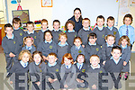 Junior Infants from Cullina NS, Beaufort at school on Friday was front row l-r: Marc O'Sullivan-Rousse, Ciara Casey, Luke O'Connor, Holly Clifford, Niamh Murphy, Simon Coffey, Dylan Ferris. Middle row: Cora Coffey, Katie Joy, Lucinda Breen, Juliet Murphy, Emma O'Sullivan, Adele O'Brien, Me?abh Coleman-Horgan. Back row: Daire Murphy, Timmy Casey, Conor Lehane, Ciara Dennehy, Robert Sweeney, Caolan Ireland, Catherine Shea teacher Adam Neary, Stephen Caulfield-Dreier, Darragh Crehan and Patrick Galvin.   Copyright Kerry's Eye 2008