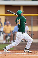North Dakota State Bison first baseman Wes Satzinger #31 during a game against the Pennsylvania Quakers at Henley Field on March 11, 2012 in Lakeland, Florida.  North Dakota State defeated Pennsylvania 15-3.  (Mike Janes/Four Seam Images)