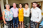 Jessica Moynihan from Rockwell Close Tralee celebrating her graduation on Friday evening in the Brogue Inn. <br /> L to r: Bridget Lehane, Pat, Jessica, Ann and Ian Moynihan