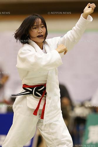Saori Adachi,<br /> September 13, 2014 - Judo : <br /> All Japan Juior Judo Championships <br /> Women's -44kg Final<br /> at Saitama Kenritsu Budokan, Saitama, Japan. <br /> (Photo by Shingo Ito/AFLO SPORT) [1195]