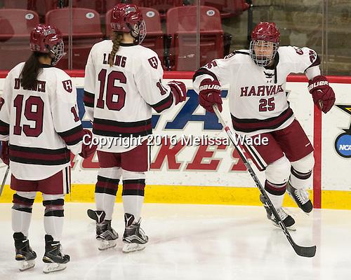Sydney Daniels (Harvard - 25) announced as a Crimson starter. - The visiting Boston College Eagles defeated the Harvard University Crimson 2-0 on Tuesday, January 19, 2016, at Bright-Landry Hockey Center in Boston, Massachusetts.
