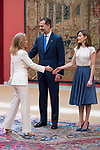 Alicia Koplowitz, King Felipe Vi of Spain and Queen Letizia attends the meeting of the members of the patronage of the Princesa de Asturias foundation at El Pardo Palace in Madrid, June 16, 2017. Spain.<br /> (ALTERPHOTOS/BorjaB.Hojas)