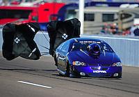 Feb. 18, 2012; Chandler, AZ, USA; NHRA top sportsman driver Paul Mitsos during qualifying for the Arizona Nationals at Firebird International Raceway. Mandatory Credit: Mark J. Rebilas-