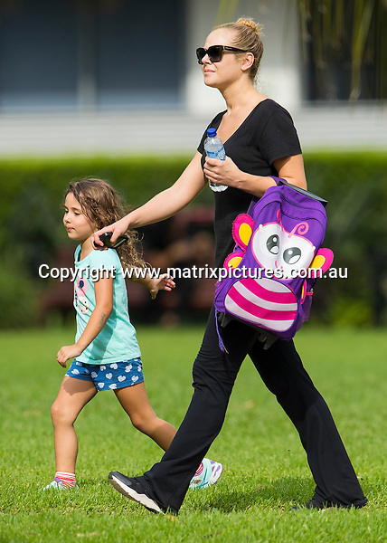 3 FEBRUARY 2017 MELBOURNE AUSTRALIA<br /> WWW.MATRIXPICTURES.COM.AU<br /> <br /> EXCLUSIVE PICTURES<br /> <br /> Jessica Marais pictured with her daughter Scout getting a piggyback from mum on the way home from school. <br /> <br /> Matrix Media Group.Note: All editorial images subject to the following: For editorial use only. Additional clearance required for commercial, wireless, internet or promotional use.Images may not be altered or modified. Matrix Media Group makes no representations or warranties regarding names, trademarks or logos appearing in the images.