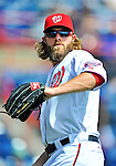 4 March 2012: Washington Nationals outfielder Jayson Werth warms up prior to a game against the Houston Astros at Space Coast Stadium in Viera, Florida. The Astros defeated the Nationals 10-2 in Grapefruit League action. Mandatory Credit: Ed Wolfstein Photo