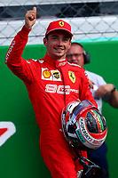#16 Charles Leclerc, Scuderia Ferrari. celebration for pole position <br />  Italian GP, Monza 5-8 September 2019<br /> Monza 07/09/2019 GP Italia <br /> Formula 1 Championship 2019 <br /> Photo Federico Basile / Insidefoto