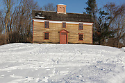 Minute Man National Historical Park...Captain William Smith House along the Battle Road Trail during the winter months. Located in Lincoln, Massachusetts USA