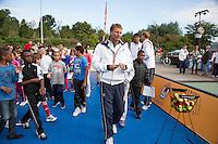 13-09-12, Netherlands, Amsterdam, Tennis, Daviscup Netherlands-Swiss,   Streettennis, Jan Siemerink