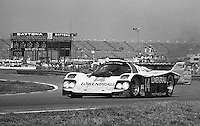 The #14 Porsche 962 of Chip Robinson, Derek Bell, Al Unser Jr. and Al Holbert races to victory in the Rolex 24 at Daytona, Daytona International Speedway, Daytona Beach, FL, February 1, 1987.  (Photo by Brian Cleary/www.bcpix.com)