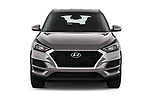 Car photography straight front view of a 2019 Hyundai Tucson Value 5 Door SUV