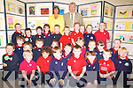 ART ATTACK: Displaying their art exhibition on Thursday at Listellick School, Tralee were the junior infants class along with teachers, Aileen Bulman (Art Co-ordinator), Michea?l O'Cinne?ide (Principal).   Copyright Kerry's Eye 2008