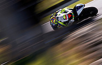 Yamaha MotoGP rider Valentino Rossi of Italy rides during the first practice session of the Australian Motorcycle GP in Phillip Island, Oct 18, 2013. Photo by Daniel Munoz/VIEWpress. IMAGE RESTRICTED TO EDITORIAL USE ONLY