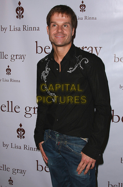 LOUIS VAN AMSTEL.Belle Gray By Lisa Rinna Grand Re-Opening held at the Belle Gray Store, Sherman Oaks, California, USA..November 15th, 2007.half length black shirt stubble facial hair .CAP/ADM/CH.©Charles Harris/AdMedia/Capital Pictures.