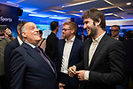 Javier Tebas, Sergio Osle, Lucas Vidal during the presentation of the strategic alliance between Movistar and Laliga<br /> October 4, 2019. <br /> (ALTERPHOTOS/David Jar)