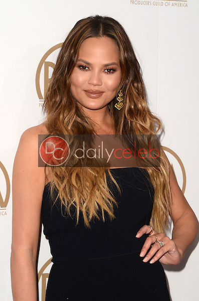 Chrissy Teigen<br /> at the 2017 Producers Guild Awards, Beverly Hilton Hotel, Beverly Hills, CA 01-28-17<br /> David Edwards/DailyCeleb.com 818-249-4998