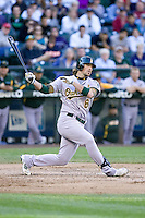 September 28, 2008: Oakland Athletics' Travis Buck at-bat during a game against the Seattle Mariners at Safeco Field in Seattle, Washington.