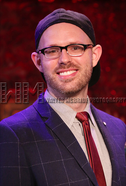 Ryan Scott Oliver performing in a preview of 'SRO at 54 Below' at 54 Below on January 22, 2015 in New York City.