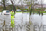 Tralee Town Council Worker Stephen O'Callaghan at the flooding at Ballymullen, Tralee on Tuesday.