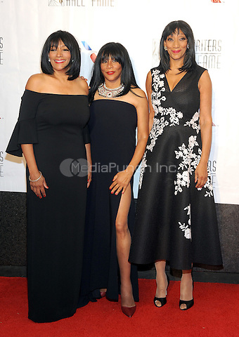 NEW YORK, NY - JUNE 09: Joni Sledge, Kim Sledge and Debbie Sledge attends the 47th Annual Songwriters Hall Of Fame Induction And Awards Gala at The New York Marriott Marquis on June 9, 2016 in New York City.  Photo Credit:John Palmer/ Media Punch